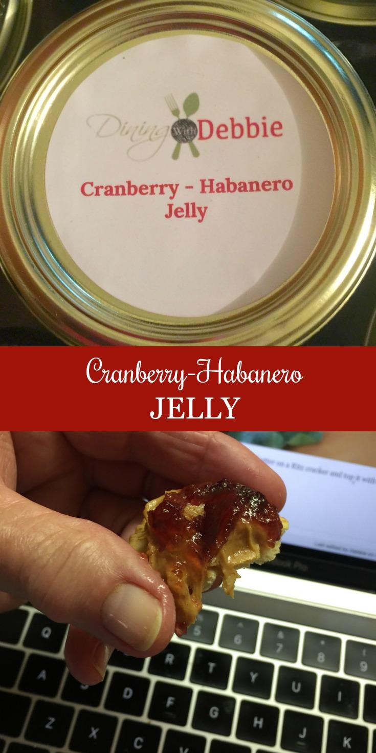 Cranberry Habanero Jelly via diningwithdebbie.net