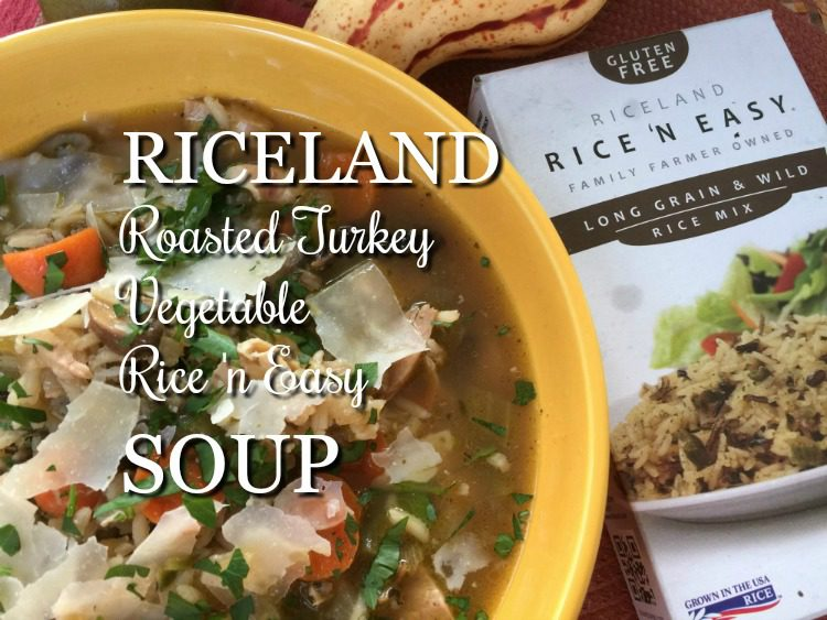 Riceland Roast Turkey Vegetable Rice n Easy Soup via diningwithdebbie.net