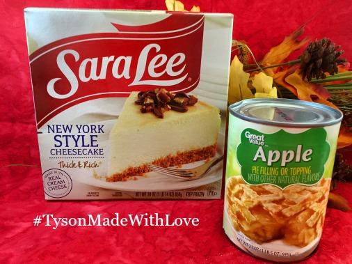 Sara Lee® Cheesecake with caramel apple glaze ingred via diningwithdebbie.net