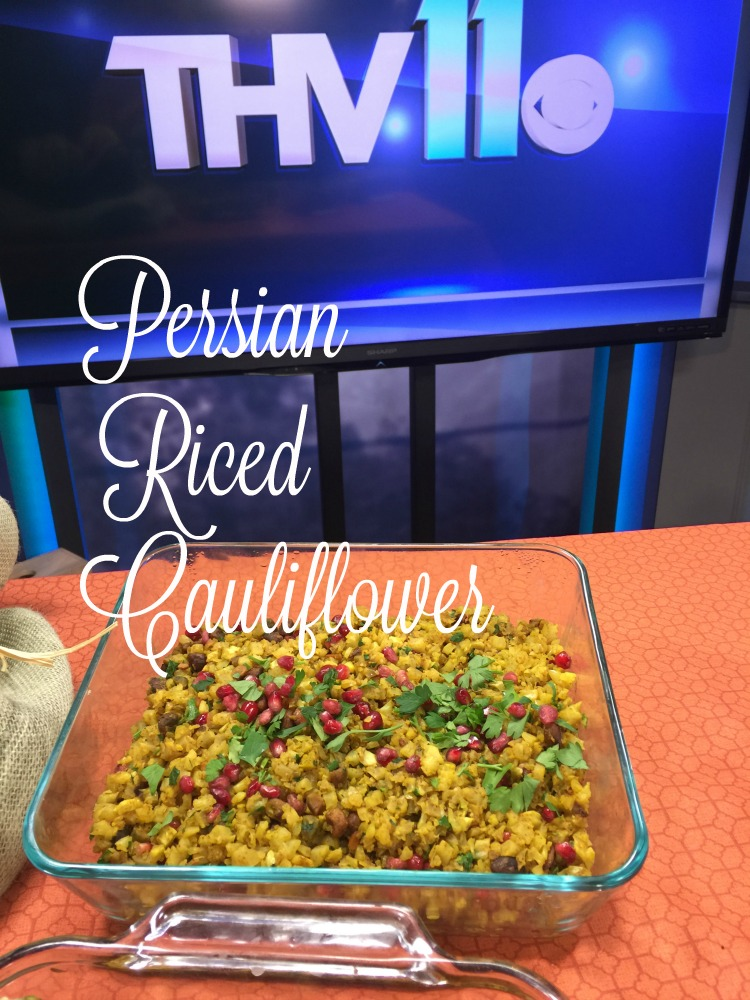 Persian Riced Cauliflower via diningwithdebbie.net
