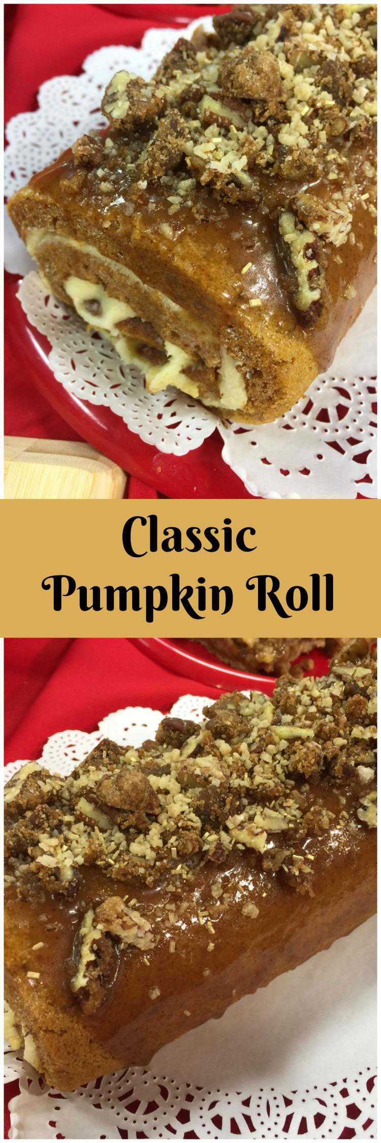 Classic Pumpkin Roll collage via diningwithdebbie.net