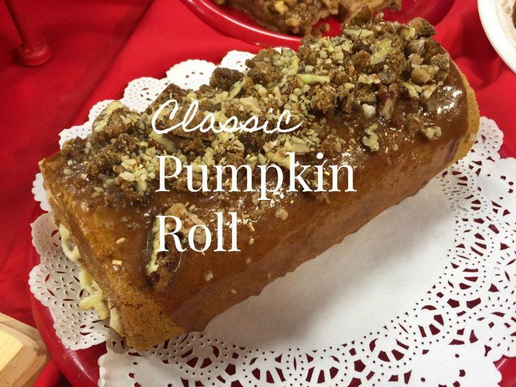 Classic Pumpkin Roll via diningwithdebbie.net