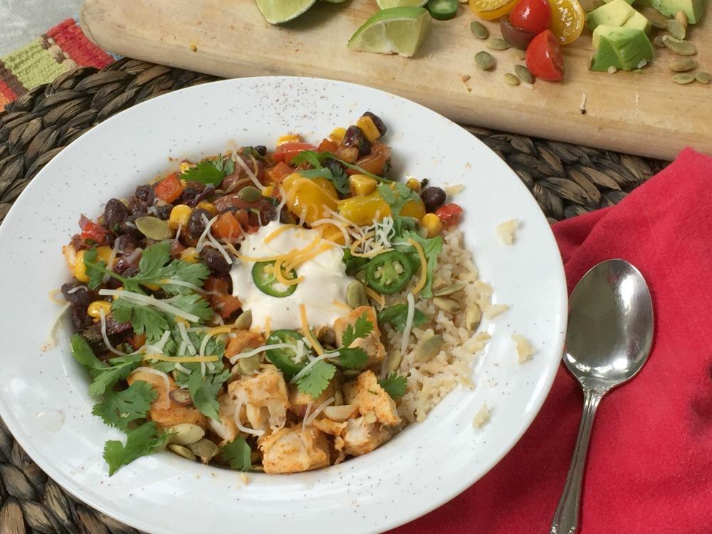 Loaded Taco Bowls for Riceland via diningwithdebbie.net