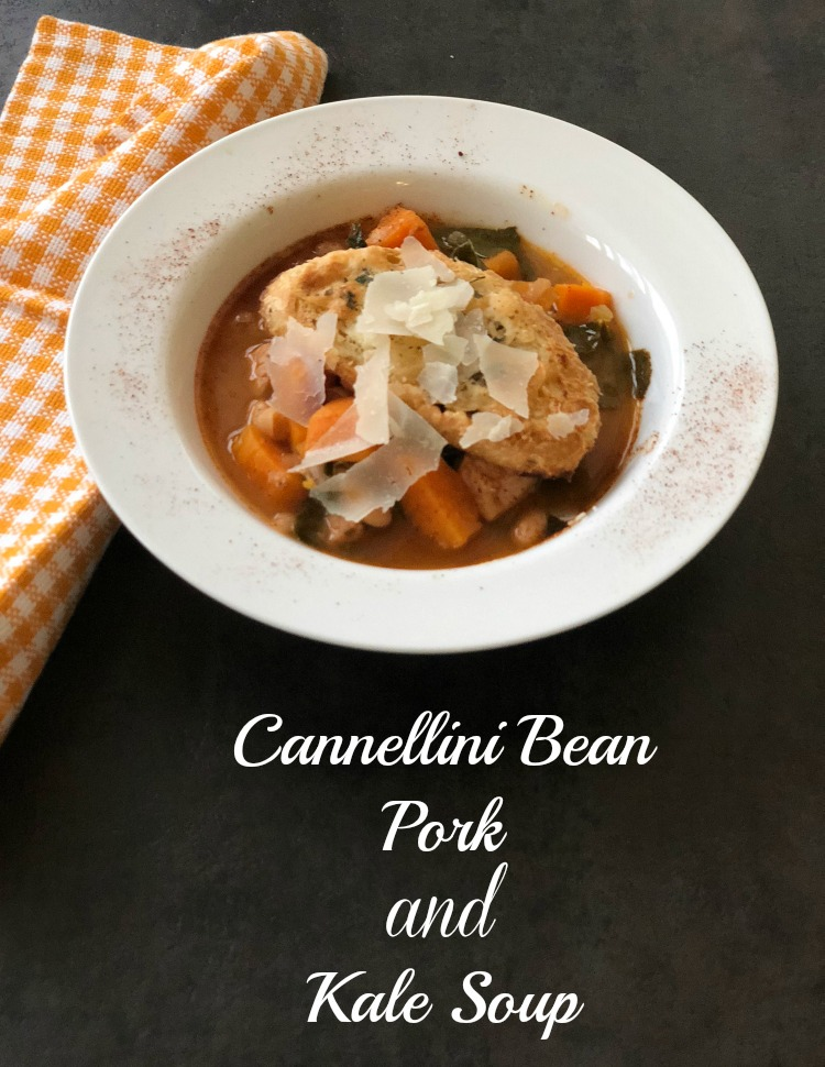 Cannellini Bean, Pork and Kale Soup via DiningWithDebbie.net