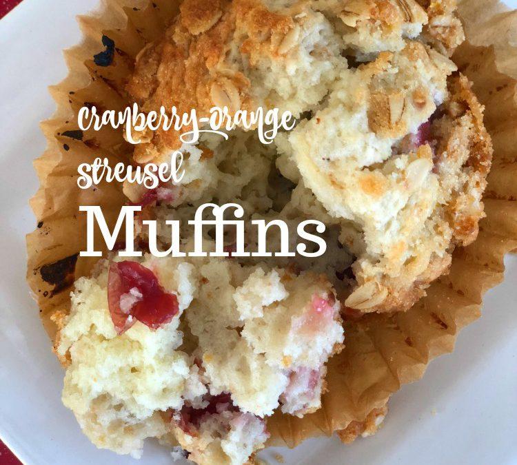 Cranberry-Orange Streusel Muffins