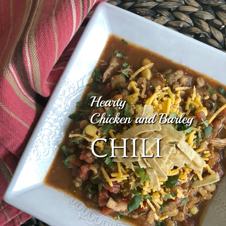 Slow Cooker Hearty Chicken-Barley Chili
