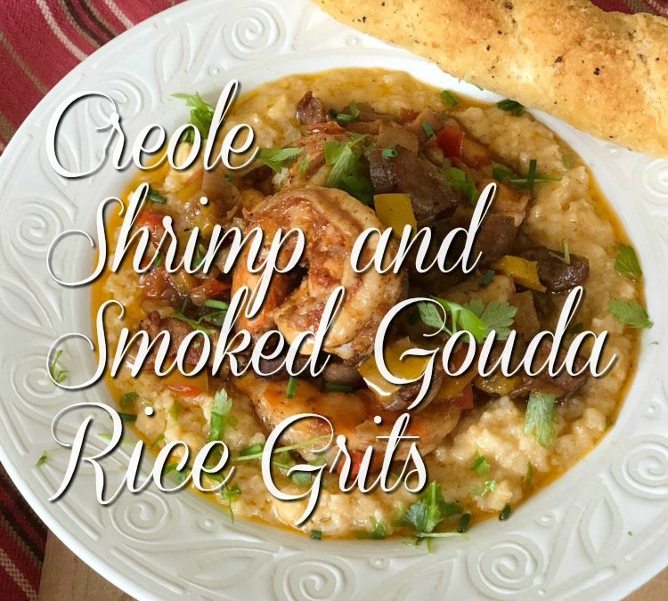 Creole Shrimp and Smoked Gouda Rice Grits {Riceland Foods}