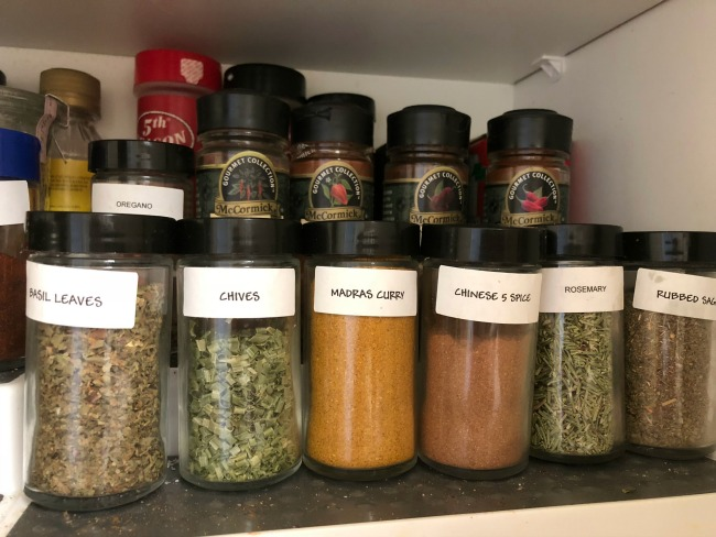 Spice Cabinet small jars via diningwithdebbie.net