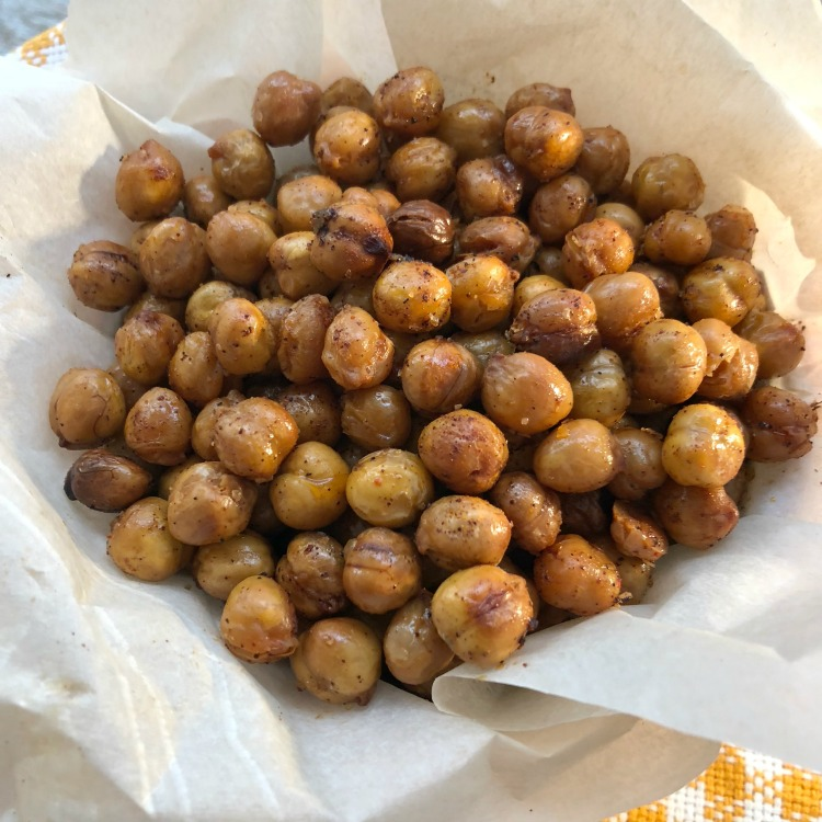 Super Crispy Chickpea Snack via diningwithdebbie.net